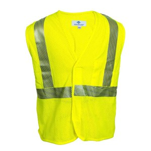 Hi-Vis Flame Resistant Mesh Safety Vest, Class 2, Velcro Closure from National Safety Apparel
