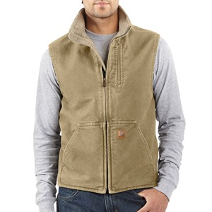 Carhartt Mock-Neck Vest with Sherpa Lining
