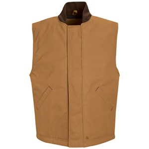 Blended Duck Insulated Vest in Brown Duck