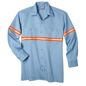 Reflective Stripe Work Shirt - Long Sleeve