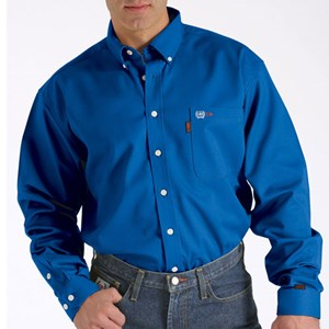 Cinch Solid FR Work Shirt in Royal Blue