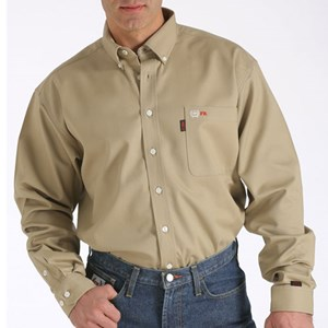 Cinch Solid FR Work Shirt in Khaki