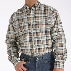 Flame Resistant Plaid Workshirt