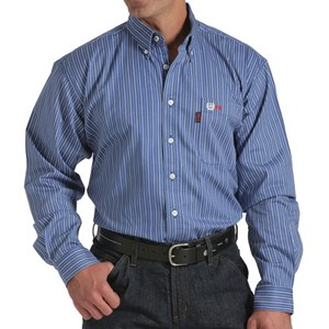 Cinch Striped FR Work Shirt