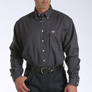 Lightweight FR Work Shirt in Charcoal