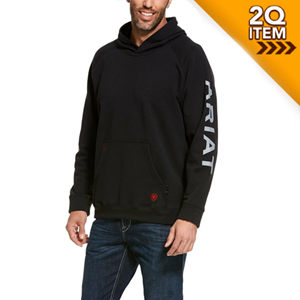Ariat FR Primo Fleece Logo Hoodie in Black
