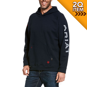 Ariat FR Primo Fleece Logo Hoodie in Navy