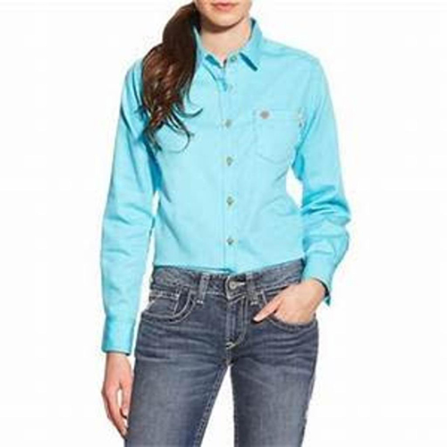 FR Ariat Turquoise Work Shirt