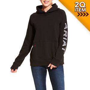 Ariat Women's FR Primo Fleece Logo Hoodie in Black
