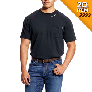 Ariat FR Baselayer Short Sleeve Tee In Black