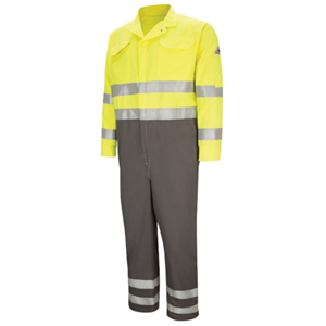 Hi-vis Deluxe Color Block Coverall With Reflective Trim