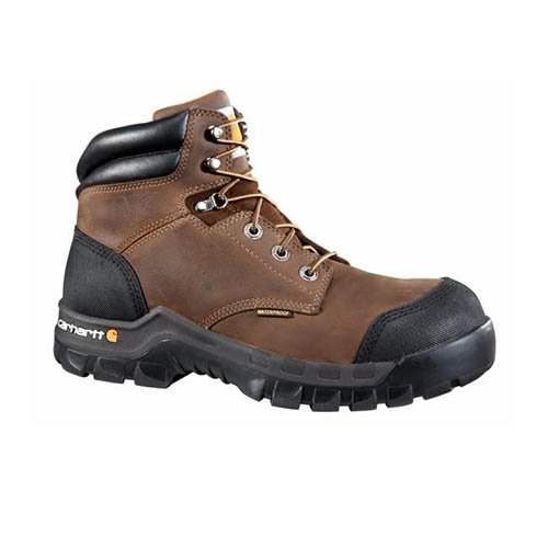 Men's 6-Inch Brown Rugged Flex Waterproof Boot