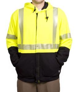 NSA Hi-Vis Deluxe Hybrid Hooded Sweatshirt