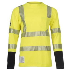 Hi-Vis Power Dry Dual Hazard FR Shirt with Pocket