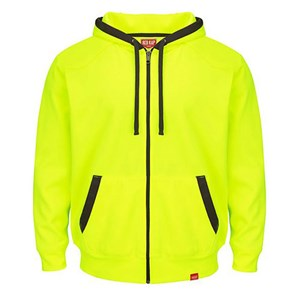 Red Kap Full Zip Fluorescent Work Hoodie
