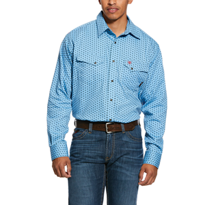 FR Tungsten Classic Fit Snap Work Shirt in Bonnie Blue - SM & 3X ONLY