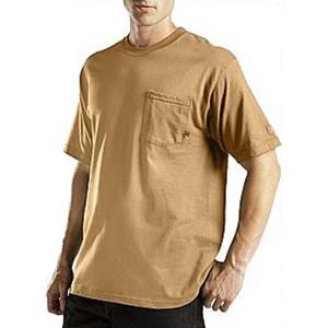 Short Sleeve Pocket Performance Tee in Brown Duck